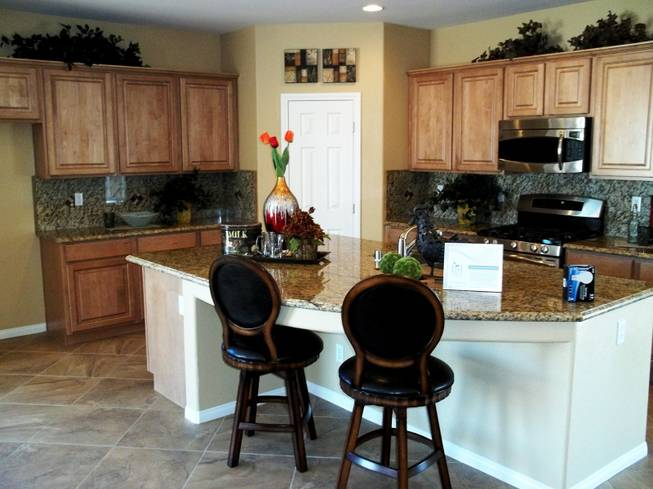 An interior view of a model home by Harmony Homes for their Bilbray Ranch project based in Laughlin.