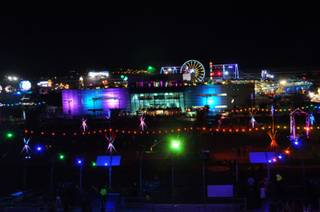 Friday night at the Electric Daisy Carnival at the Las Vegas Motor Speedway on June 24, 2011.