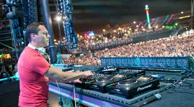 DJ Tiesto at the 2011 Electric Daisy Carnival at Las Vegas Motor Speedway on June 24, 2011.