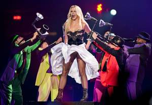 Britney Spears' Femme Fatale Tour stop at MGM Grand Garden Arena on June 25, 2011.