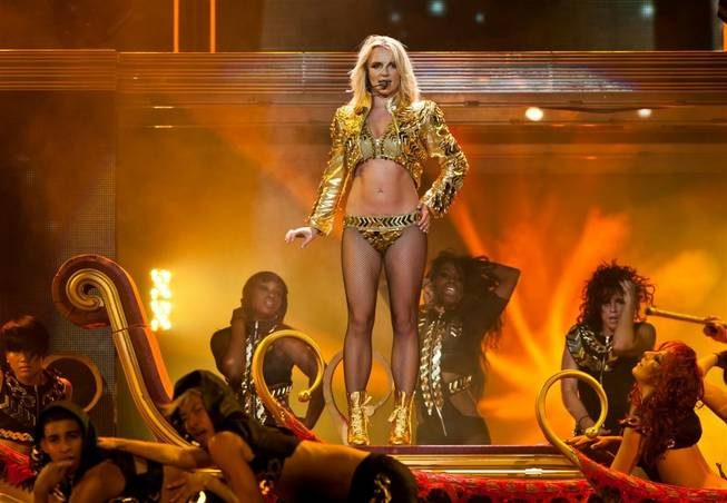 Britney Spears' Femme Fatale Tour at MGM Grand Garden Arena