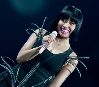 Nicki Minaj opens for Britney Spears' Femme Fatale Tour at MGM Grand Garden Arena on June 25, 2011.