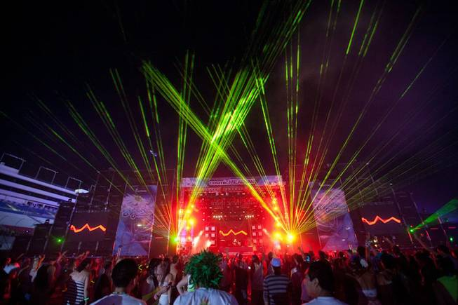 The final night of the Electric Daisy Carnival at Las Vegas Motor Speedway on June 26, 2011.