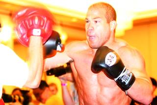 Tito Ortiz works out for the media in preparation for UFC 132 at MGM Grand Wednesday, June 29, 2011.
