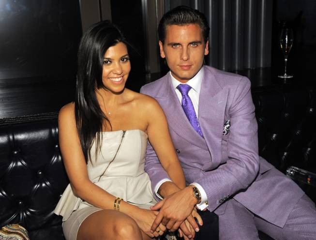 Scott Disick and Kourtney Kardashian at Chateau at Paris on 4th of July weekend.