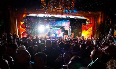 Afrojack and Steve Aoki at XS in the Encore on July 4, 2011.