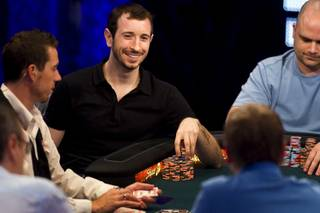 Las Vegas resident Brian Rast competes at the final table of the $50,000 buy-in, Poker Player's Championship during the World Series of Poker at the Rio Wednesday, July 6, 2011.