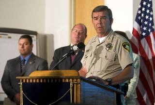 Sheriff Doug Gillespie is seen during a news conference at Metro Police offices July 7, 2011.