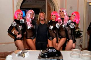 Vince Neil celebrates his 52nd birthday at LVH.