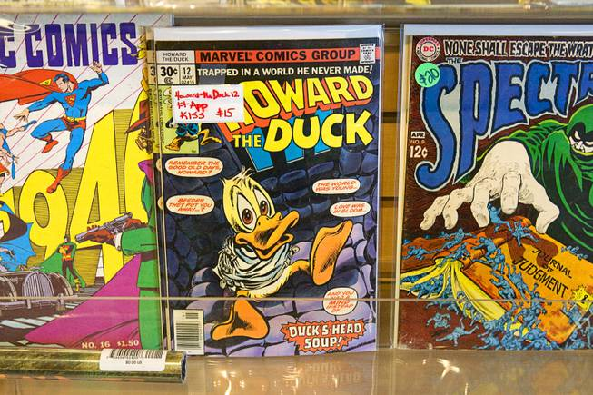 A Howard the Duck comic book is displayed at the Maximum Comics store in Henderson Sunday, July 10, 2011.