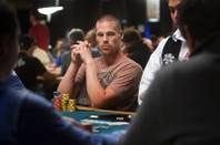 Poker professional Patrik Antonius of Finland competes during Day 2B of the World Series of Poker main event at the Rio Tuesday, July 12, 2011.