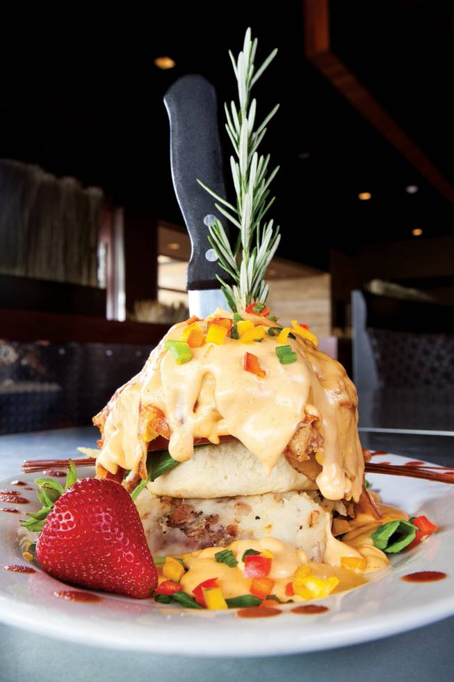 Hash House A Go-Go, fried chicken Benedict