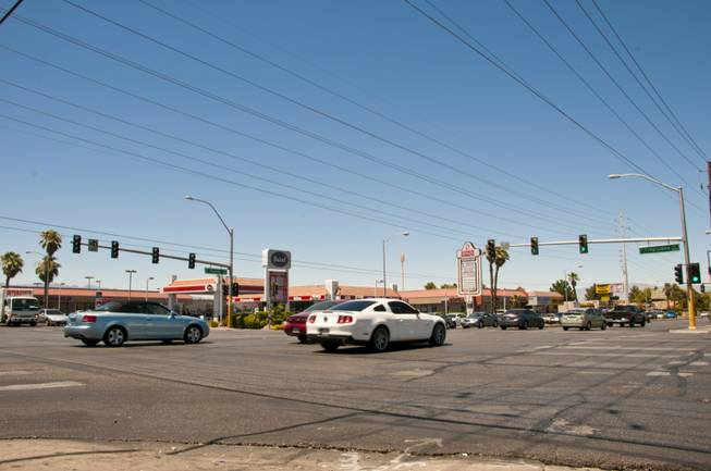 The intersection of Tropicana Avenue and and Pecos Road.