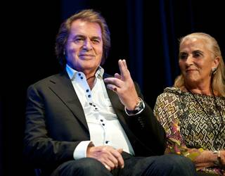 Engelbert Humperdinck receives a Las Vegas Walk of Stars honor at the Paris on July 20, 2011. His wife Patricia and children Scott, Jason and Louise were in attendance.