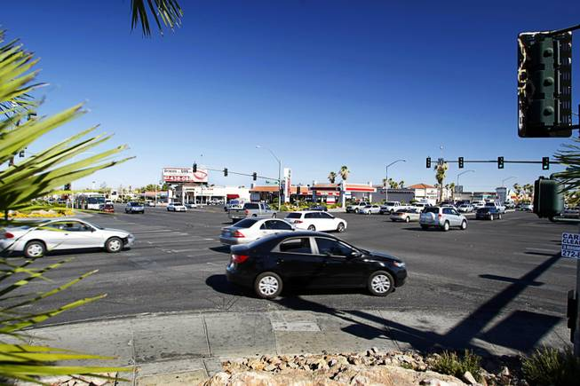 A view of the intersection of West Charleston and South Rainbow boulevards. The intersection is one of the most dangerous in the Las Vegas Valley.
