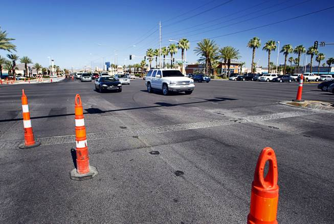 A view of the intersection of West Sahara Avenue and South Decatur Boulevard. The intersection is one of the most dangerous in the Las Vegas Valley.