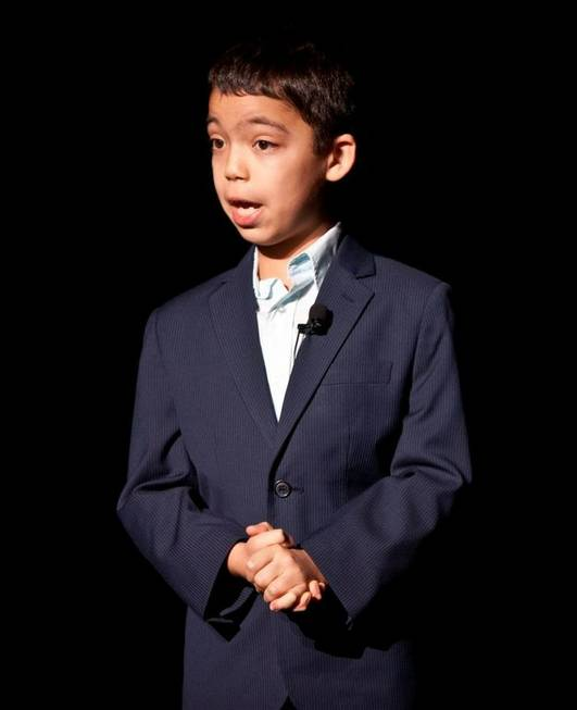 Ten-year-old Ethan Bortnick performs at the Las Vegas Hilton on ...