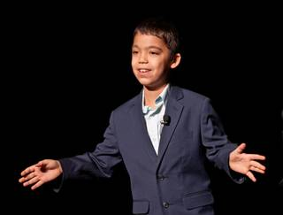 Ten-year-old Ethan Bortnick performs at the Las Vegas Hilton on July 22, 2011.