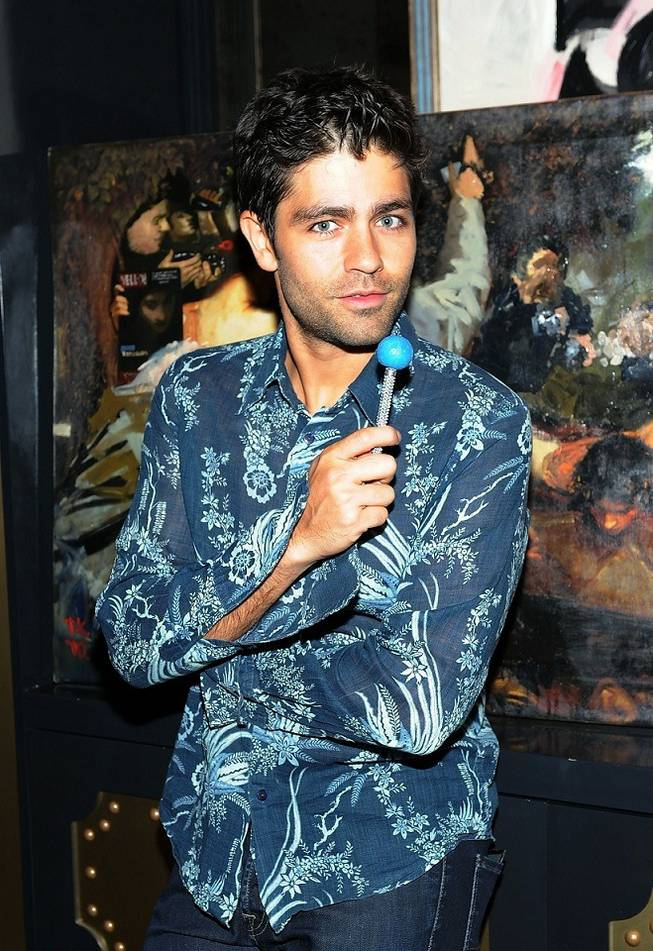 Adrian Grenier in the Chocolate Lounge at Sugar Factory American Brasserie at the Paris on July 22, 2011.