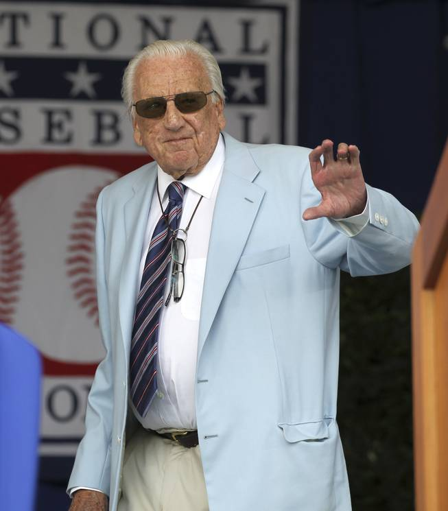Hall of Famer Ralph Kiner during the Baseball Hall of Fame inductions in Cooperstown, N.Y., on Sunday, July 24, 2011.