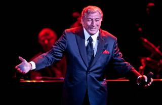 Tony Bennett, with daughter Antonia Bennett, at The Pearl in the Palms on July 24, 2011.