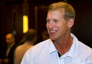 UNLV Football Coach Bobby Hauck is shown during the Mountain West Conference football media day at the Red Rock Resort Tuesday, July 26, 2011.