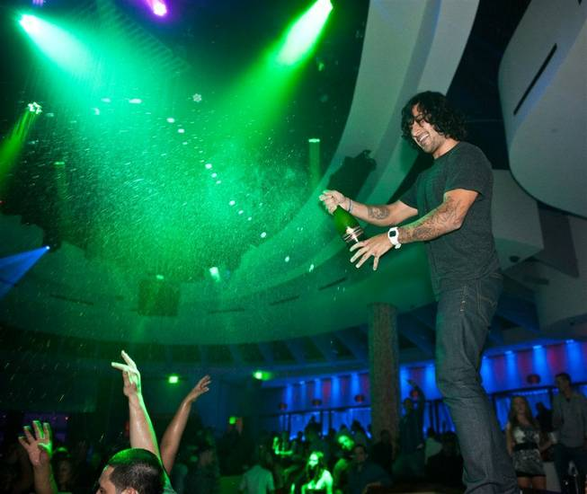 DJs Sex Panther and <em>Crazy Horse Paris</em> at Club Nikki/Nikki Beach at Tropicana Las Vegas on July 27, 2011.