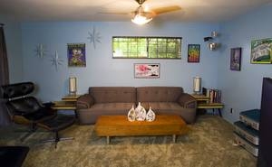 The den is shown in the home of Courtney Mooney and Josh Rogers Sunday, July 31, 2011.