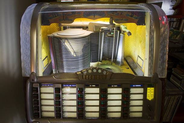 A 1950 Rock-Ola jukebox is shown in the home of Courtney Mooney and Josh Rogers Sunday, July 31, 2011.