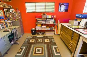 An office space is shown in the home of Courtney Mooney and Josh Rogers Sunday, July 31, 2011.