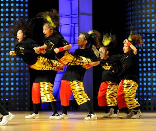 The Japan dance crew Star Team during the World Hip Hop Dance Championship Finals at the Orleans Arena on July 31, 2011.