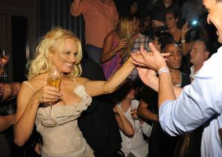 Pamela Anderson celebrates her birthday at Chateau Nightclub & Gardens at Paris Las Vegas on July 30, 2011.
