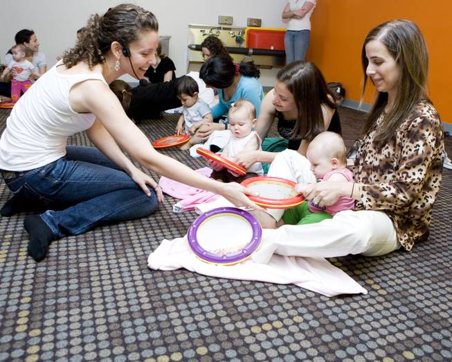 Newborns to children 5-years-old can enjoy the Little Maestros music class.