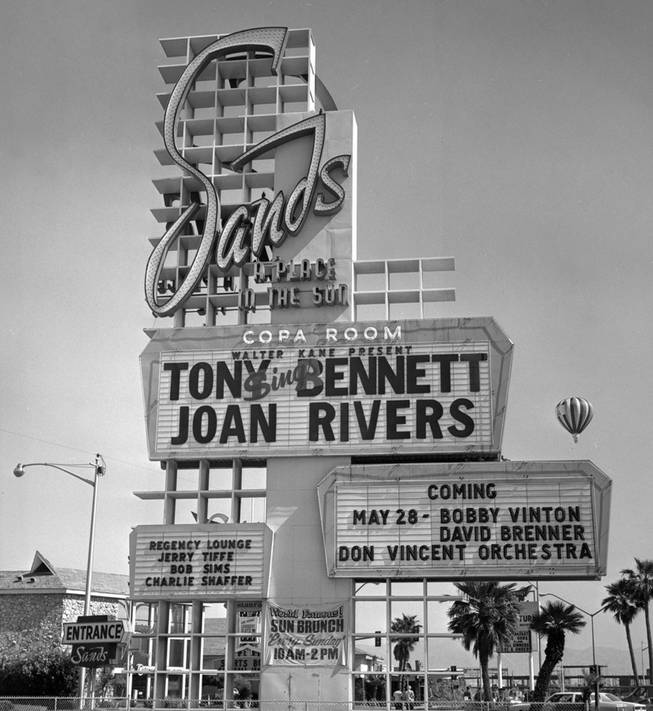 May 16, 1980: Tony Bennett and Joan Rivers' marquee at the Sands.
