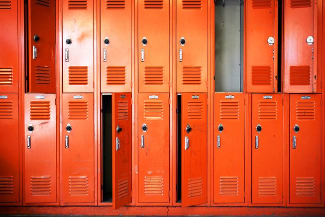 The lockers at Chaparral High School on Thursday, August 4, 2011.