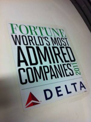 This sign on the side of a Delta jet reminds that we are soaring on success!