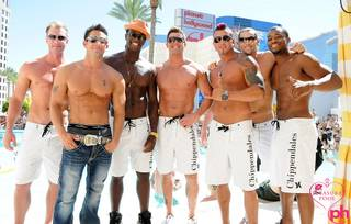 The Rio's Chippendales featuring Jeff Timmons at Planet Hollywood's Pleasure Pool on Aug. 6, 2011.