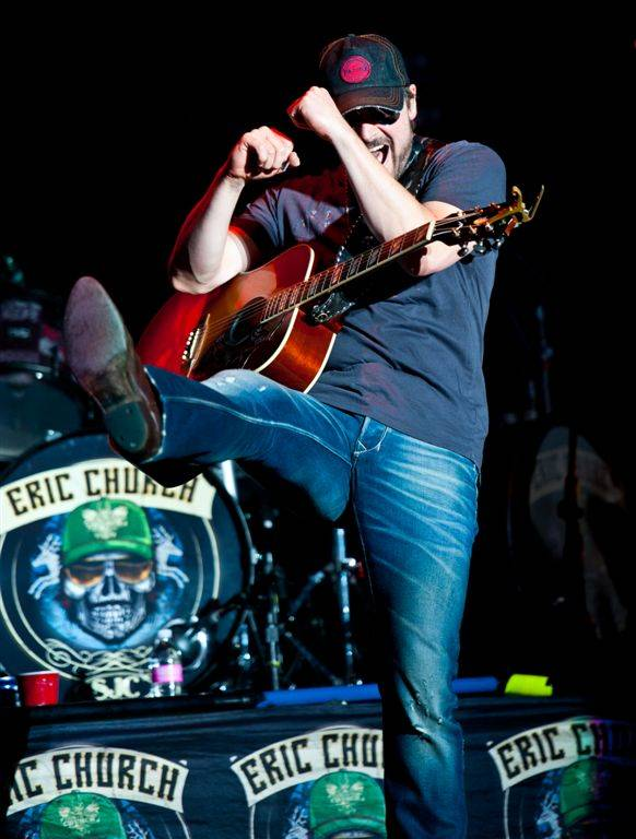 Eric Church at Red Rock Resort Amphitheater on Aug. 6, 2011.