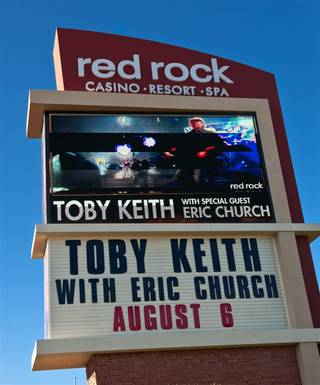 Toby Keith and Eric Church at Red Rock Resort Amphitheater on Aug. 6, 2011.