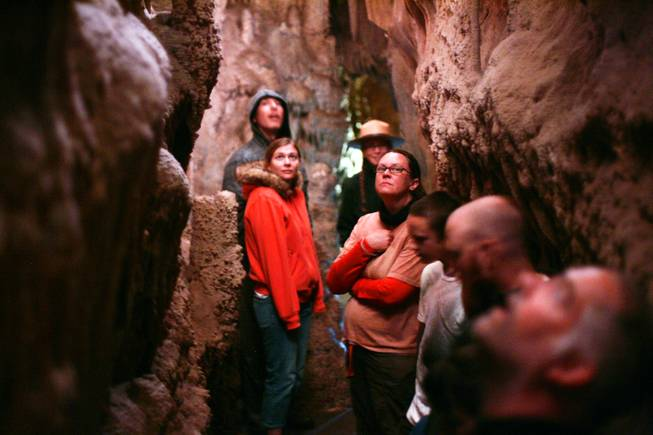 Tourists take the Lehman Caves tour at Great Basin National Park on Sunday, August 7, 2011.
