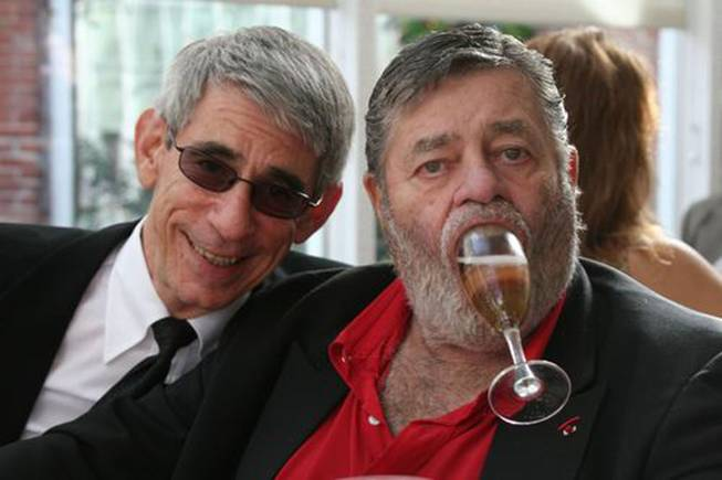 Richard Belzer and Jerry Lewis, hacking it up.