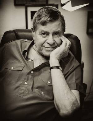 Jerry Lewis, in portraiture, as shot by Denise Truscello in 2009.
