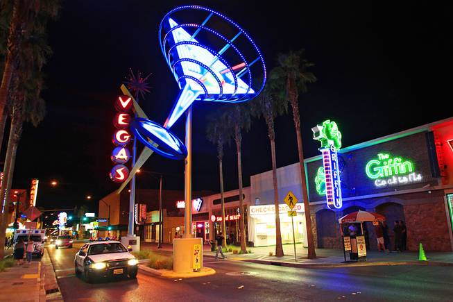 The Fremont East district is seen Thursday, August 4, 2011.