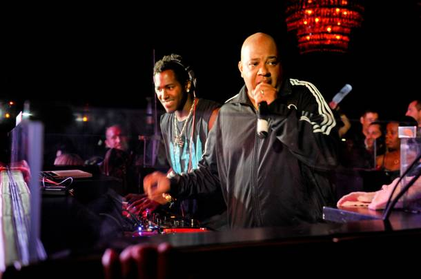 DJ Ruckus and Rev Run at Lavo.