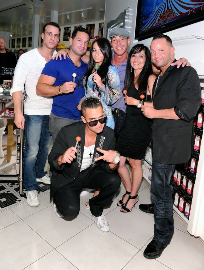 "Mike ""The Situation"" Sorrentino with family and friends at Sugar Factory at the Paris on Aug. 14, 2011."