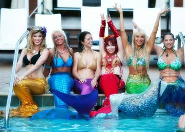 A sea of mermaids broke a world record at the first International Mermaid Pageant at Silverton Casino Lodge on Friday. Pardon the puns, but how can ...