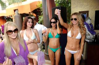 Brandi Glanville hosts Hpnotiq Harmonie's Single and Fabulous party at Tao Beach at the Venetian on Aug. 13, 2011.