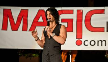 Criss Angel launches MagicPlace.com at Bare Pool Lounge in the Mirage on Monday, Aug. 15, 2011.