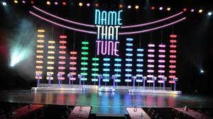 "The set of ""Name That Tune Live,"" designed by Emmy Award winner Andy Walmsley, at Imperial Palace."