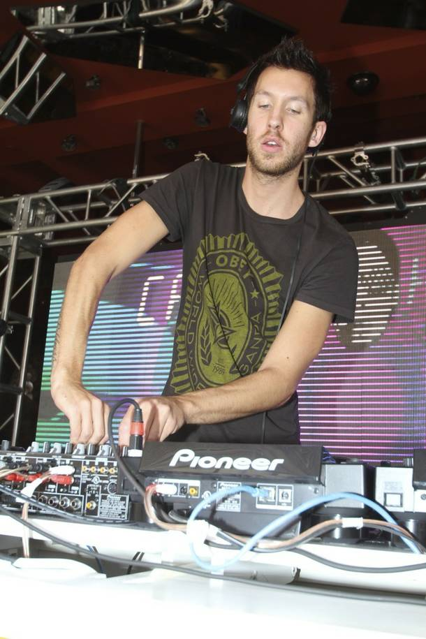 DJ Calvin Harris at Encore Beach Club.
